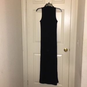 Black high neck tank dress